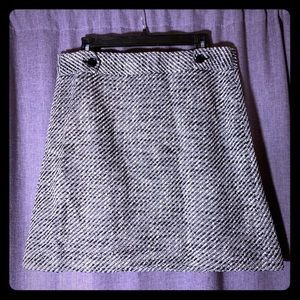 Ann Taylor Loft Tweed B&W Mini Skirt